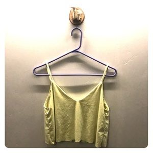 Yellow suede crop top size small